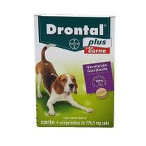 Vermífugo Drontal Bayer Plus Cães 10kg Carne 4 Comprimidos -