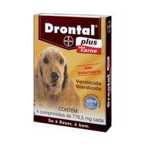 Vermífugo Drontal Plus 10KG Carne - 4/Comprimidos - Bayer