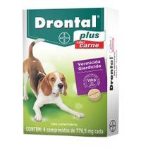 Vermífugo Drontal Plus até 10Kg 4 Comprimidos - Bayer