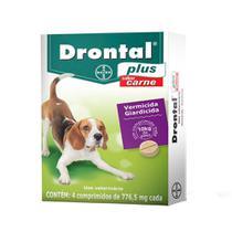 Vermifugo Drontal Plus Caes 10kg C/ 4 Comprimidos - Bayer