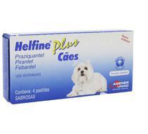 Vermífugo Helfine Plus para Cães com 4 comprimidos -