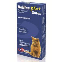 Vermifugo Helfine Plus para Gatos Agener - 2 Comprimidos - Agener Uniao