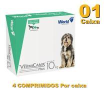 Vermifugo P/ Cães 10kg Vermicanis Plus 800mg World 4 Comp -