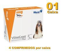Vermifugo P/ Cães 5kg Vermicanis Plus 400mg World 4 Comp -
