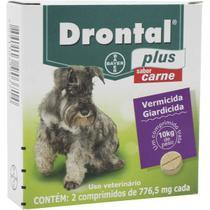 Vermifugo para Cães Drontal Plus Sabor Carne 10kg com 2 comprimidos - Bayer -