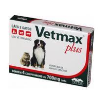Vermífugo para Cães e Gatos Vetmax Plus Vetnil 4 comprimidos -