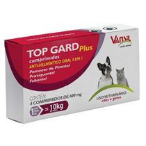 Vermífugo Top Gard Plus 4 Comprimidos - Vansil -