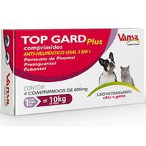 Vermífugo Top Gard Plus 600 Mg - 4 Comprimidos - Vansil