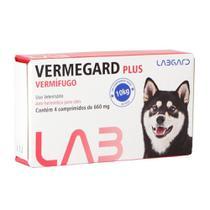 Vermífugo Vermegard Plus Labgard 660mg para Cães c/ 4 Comprimidos -