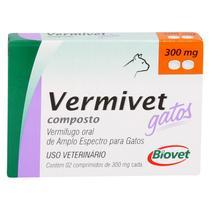 Vermífugo Vermivet Gatos Biovet 300mg c/ 2 Comprimidos -