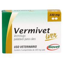 Vermífugo Vermivet Iver Biovet 330mg c/ 2 Comprimidos -