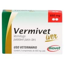 Vermífugo Vermivet Iver Biovet 660mg c/ 2 Comprimidos -