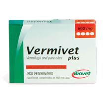 Vermífugo Vermivet Plus 10kg 4 Comprimidos - Biovet -