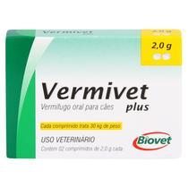 Vermífugo Vermivet Plus Biovet 2g c/ 2 Comprimidos -