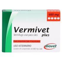 Vermífugo Vermivet Plus Biovet 660mg c/ 4 Comprimidos -