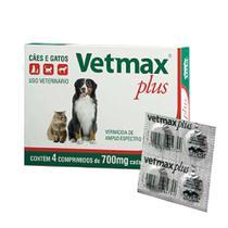 Vermífugo Vetmax Plus 4 Comprimidos - Vetnil -