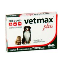 Vermifugo Vetmax Plus Caes E Gatos Vetnil C/4 Comprimidos -