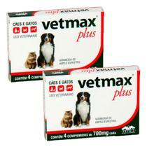 Vermifugo Vetmax Plus Caes E Gatos Vetnil C/4 - Total 8 Cp -