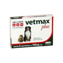 Vermifugo vetmax plus cartela  c/4 comprimidos - Vetnil