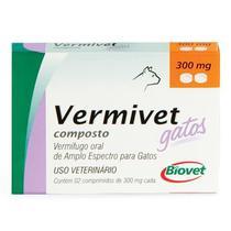 Vermivet Gatos Cx 2 Comprimidos Palatáveis - Biovet - Outros