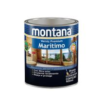 Verniz marítimo acetinado natural 900ml Montana -