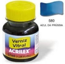Verniz Vitral Acrilex   037 ml  Azul Prussia 08140-580 -