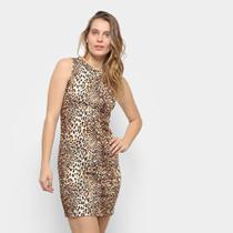 Vestido Aura Tubinho Onça -
