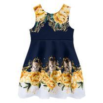 Vestido Bebê Milon Alfaiataria Floral -
