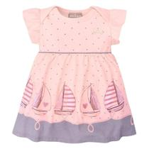 Vestido Bebê Milon Barquinhos + Body Interno -