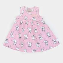 Vestido Bebê Milon Body Interno Coelhos -
