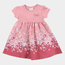 Vestido Bebê Milon Floral Body Interno -