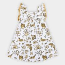Vestido Bebê Milon Floral Manga Borboleta -
