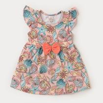 Vestido Body para Bebê Menina Conchas - Fantoni
