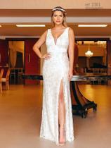 Vestido branco ideal como vestido de noiva civil - Ref. 2361 - Seuvestido