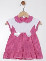 Vestido com Calcinha Infantil Para Bebê Menina - Rosa - Zero E Cia