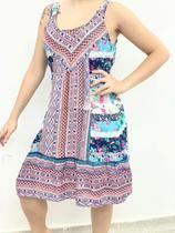 Vestido Curto Feminino Indiano Bordado - Deeyaa