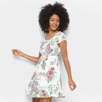 Vestido Curto Lily Fashion Tropical Evasê -