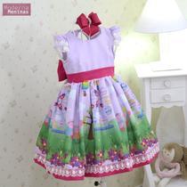 Vestido da peppa pig festa infantil superluxo - Moderna Meninas