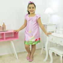 Vestido da Peppa Pig Rosa  Tubinho trapézio - Moderna Meninas