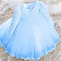 Vestido de Festa Infantil Princesas Manga Longa - Ld
