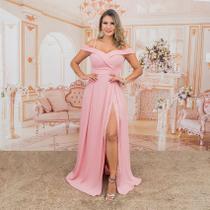 Vestido de Festa Longo Rose / Rosa - Madrinha Casamento - Grife Velasco