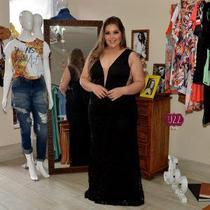 Vestido de festa plus saia bordada 1527 - Fesperamor