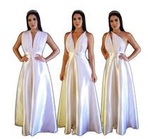 Vestido de noiva casamento pré wedding ensaio alça multi formas - PARTYLIGHT ATELIER DAS NOIVAS