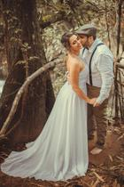 Vestido de noiva pré wedding ensaio de fotos casamento civil - Partylight Atelier Das Noivas