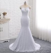 Vestido De Noiva Sereia Renda Casamento Lindo / TAMANHO: M / Pronta Entrega 'Cód.03A' - Life