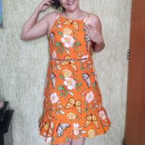 Vestido em Viscose - N