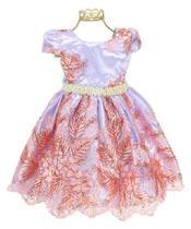 Vestido Festa Infantil Princesa Realeza Aniversário Casamento 81638 - Encantakid