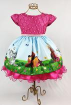 Vestido festa masha e o urso aniversario infantil 1 ao 3 - Marie
