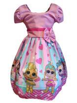Vestido Festa Passeio Infantil Temático Boneca Lol Surprise - Florata Baby Kids