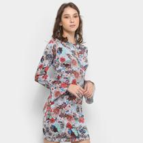 Vestido Fitwell Curto Tubinho Floral -